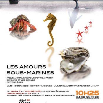 Amours sous-marine Festival d'Avignon 2017