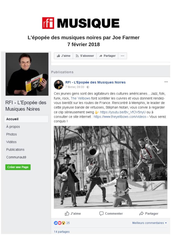 Article presse RFI Musique février 2018