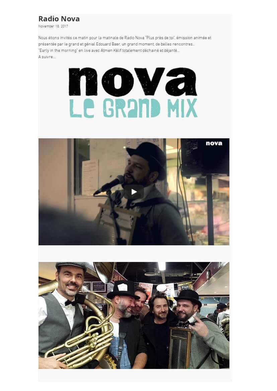 Emission Radio Nova avec Edouard Baer novembre 2018